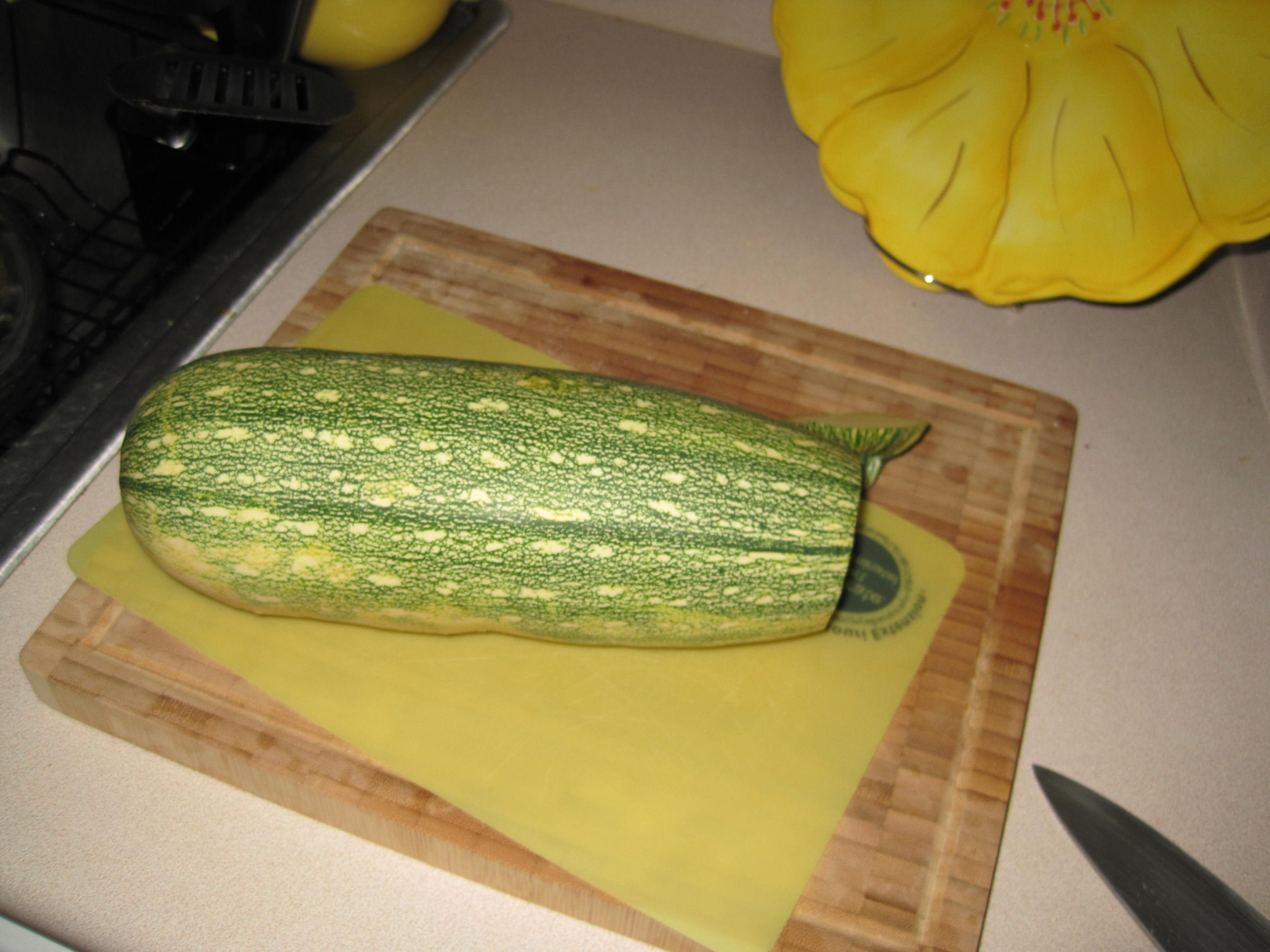 Giant zucchini, how I learned to love you. Now I can't wait for more garden-fresh goodies!
