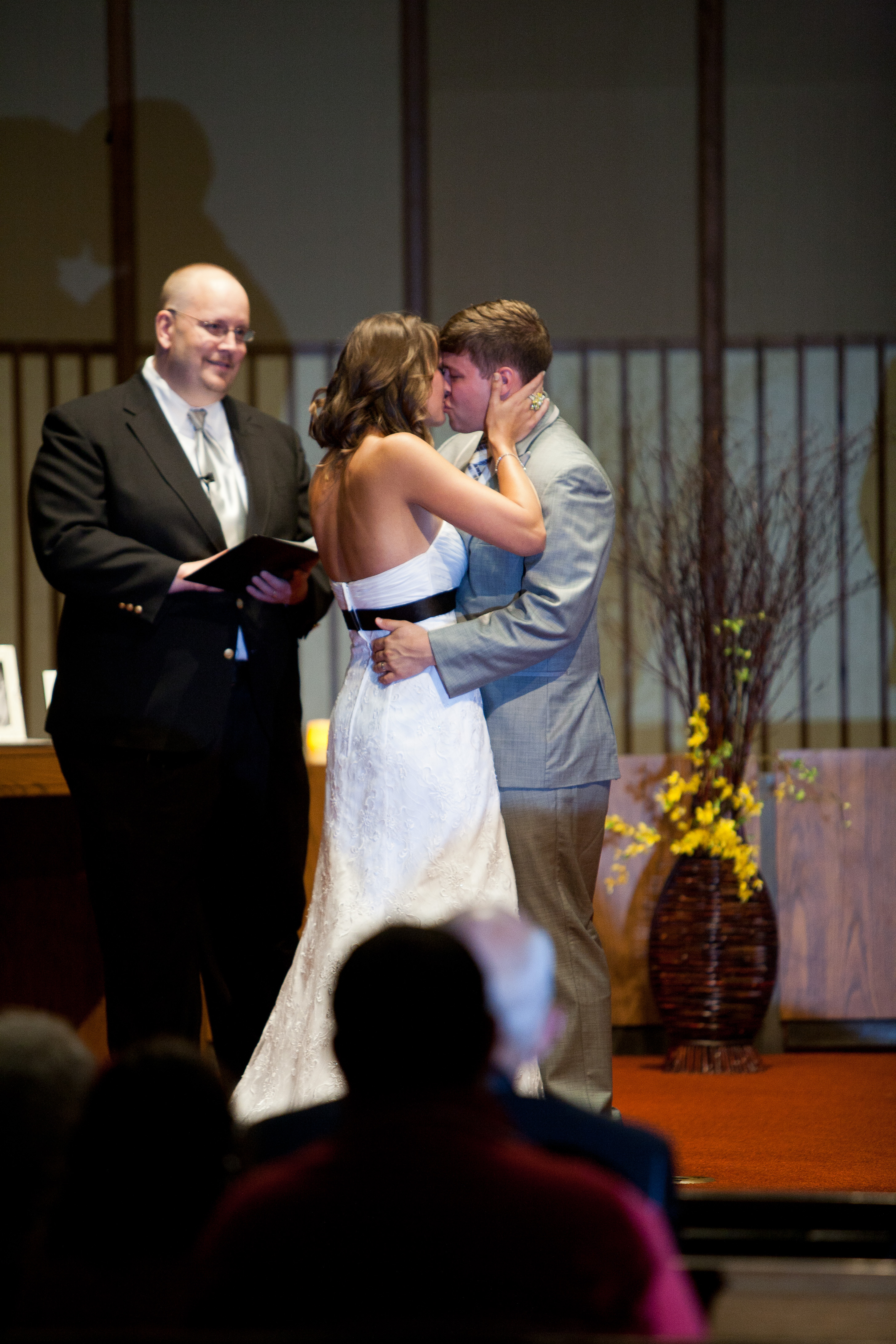First married kiss!