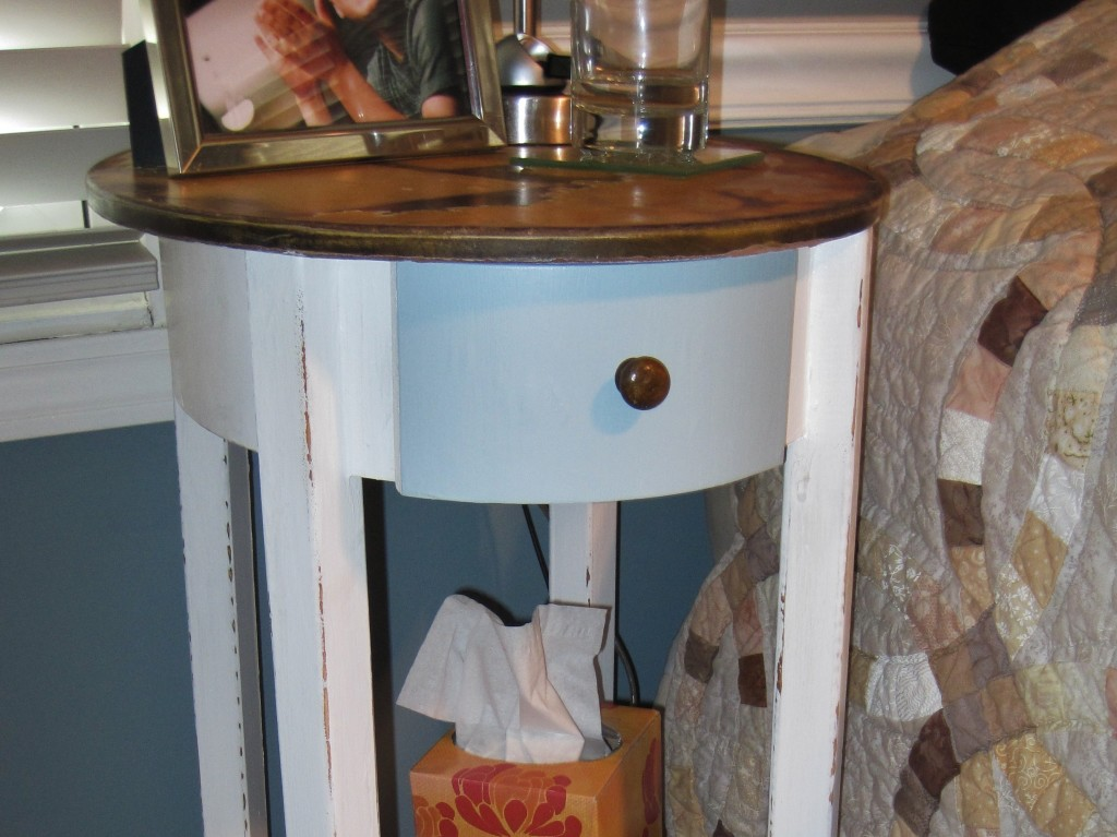 painted nightstand drawer