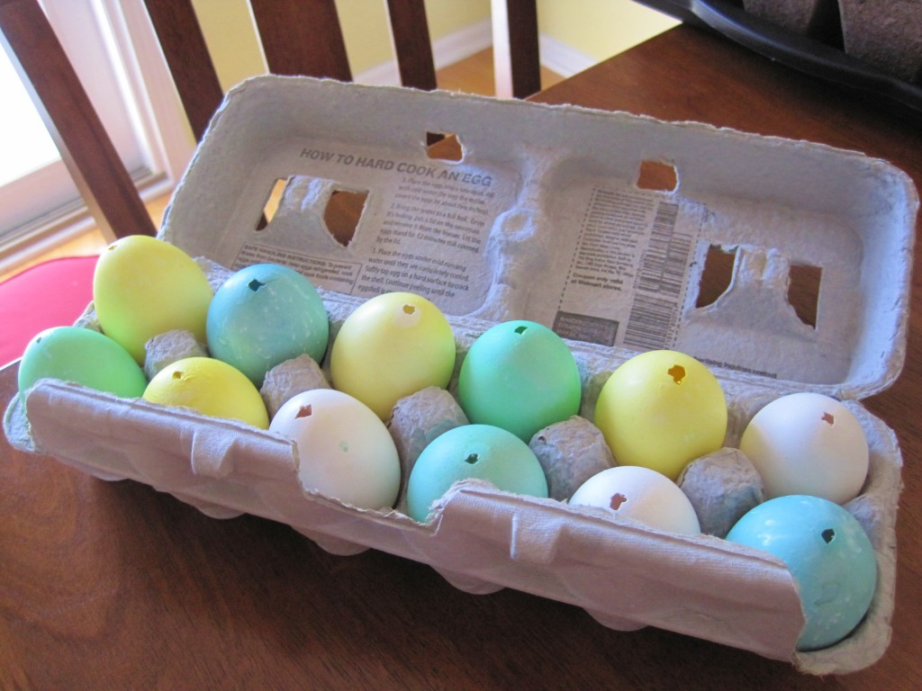 dyed eggs done
