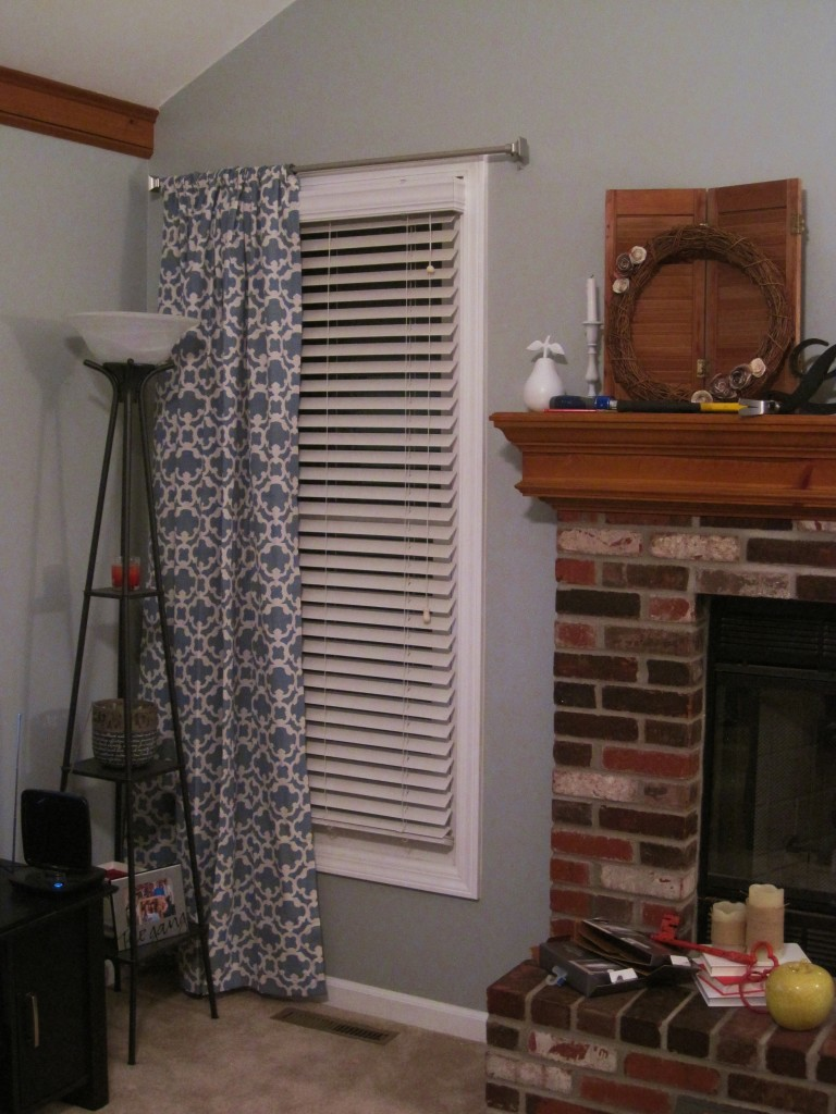living room curtains before