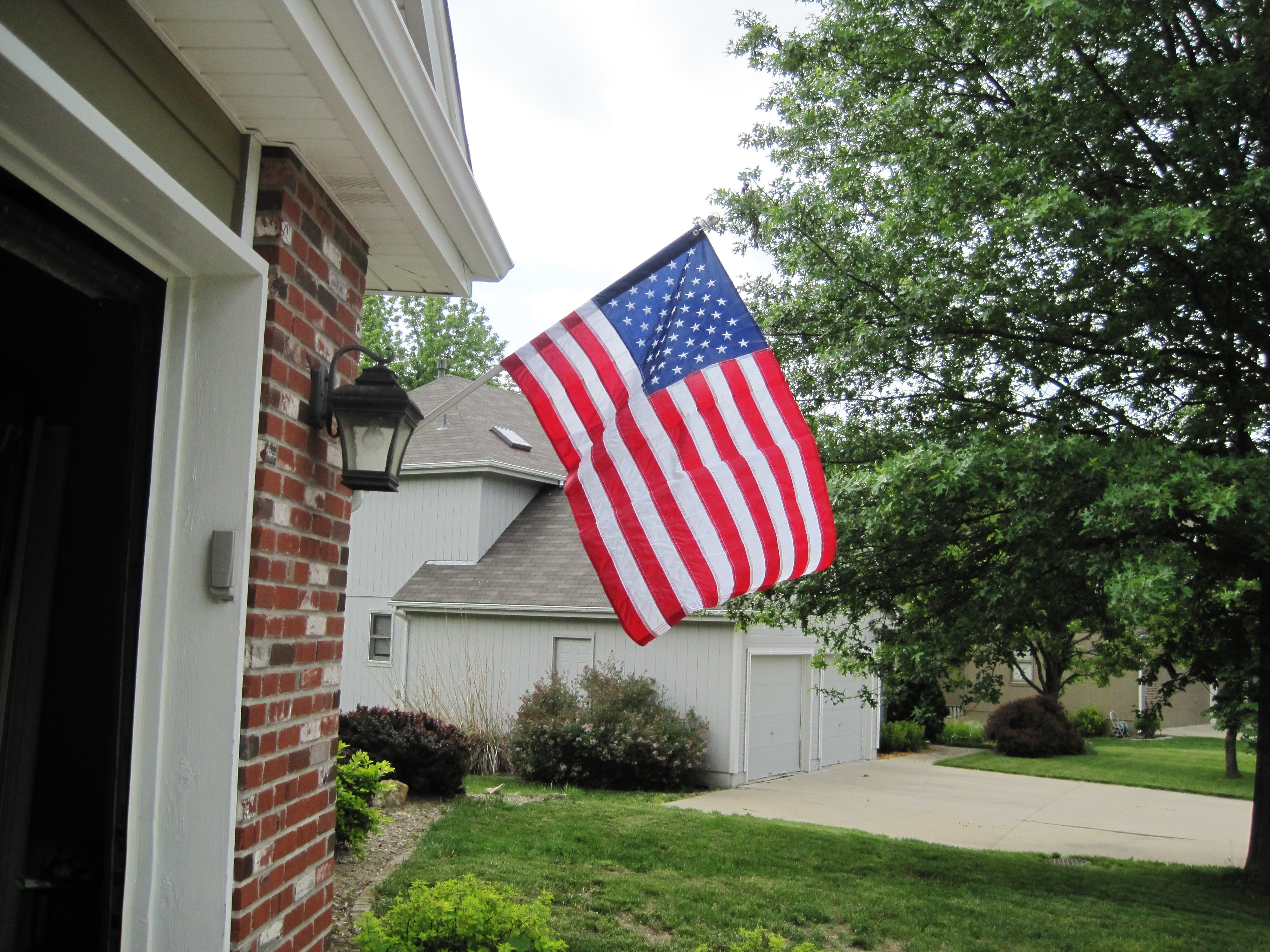 Flag On House Architectural Designs