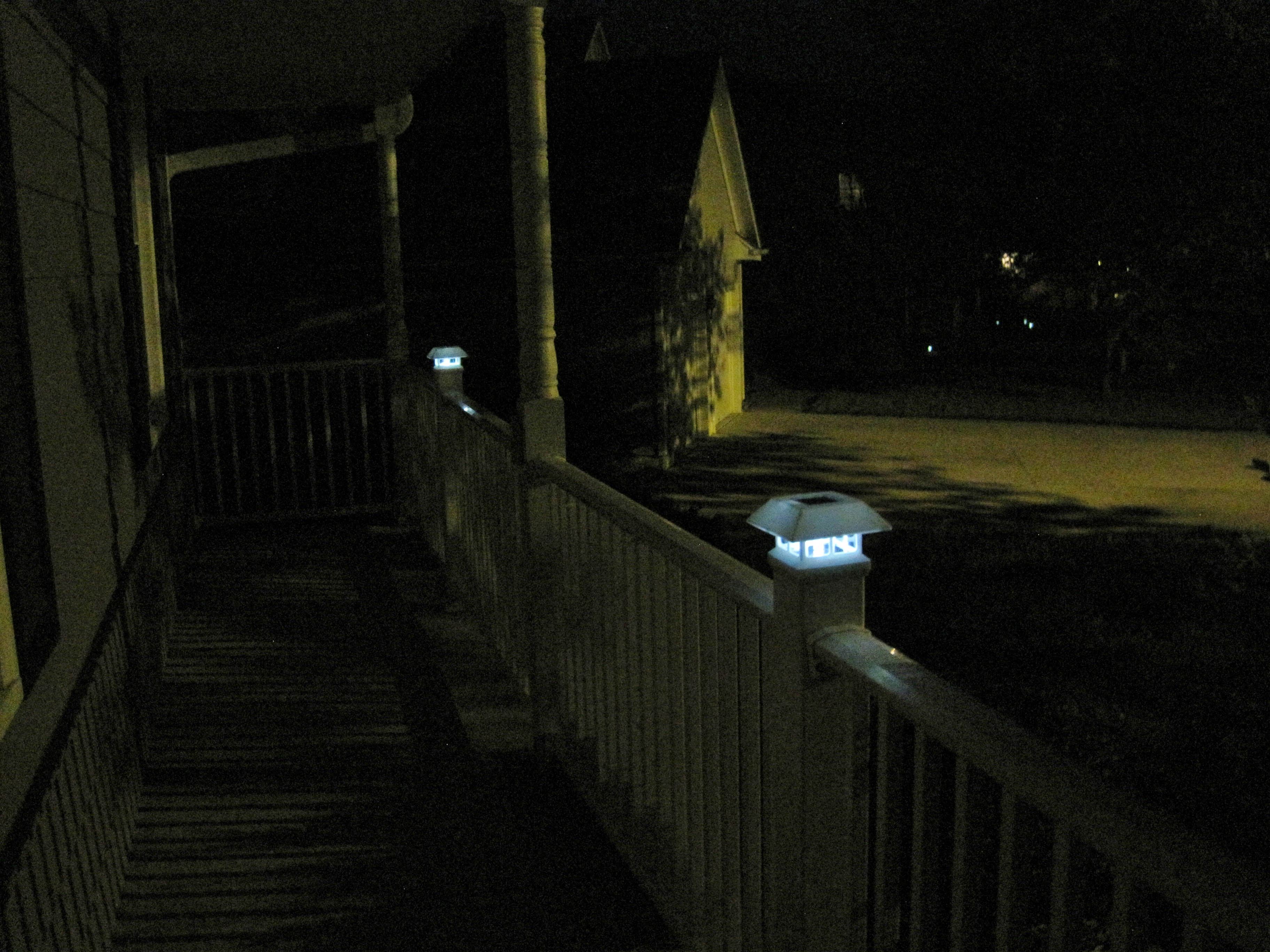 Lighted Porch Caps