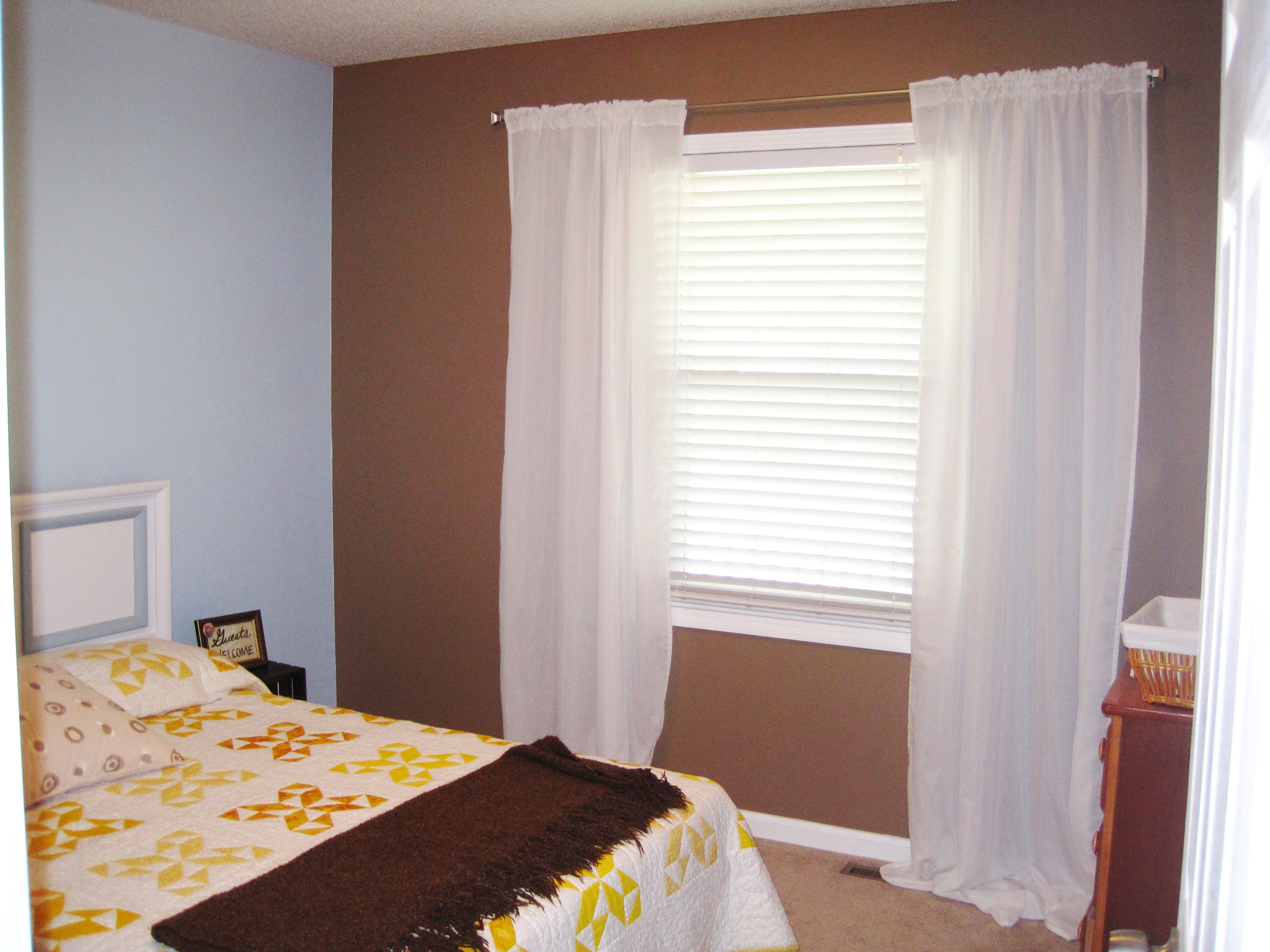 guestroom curtains before
