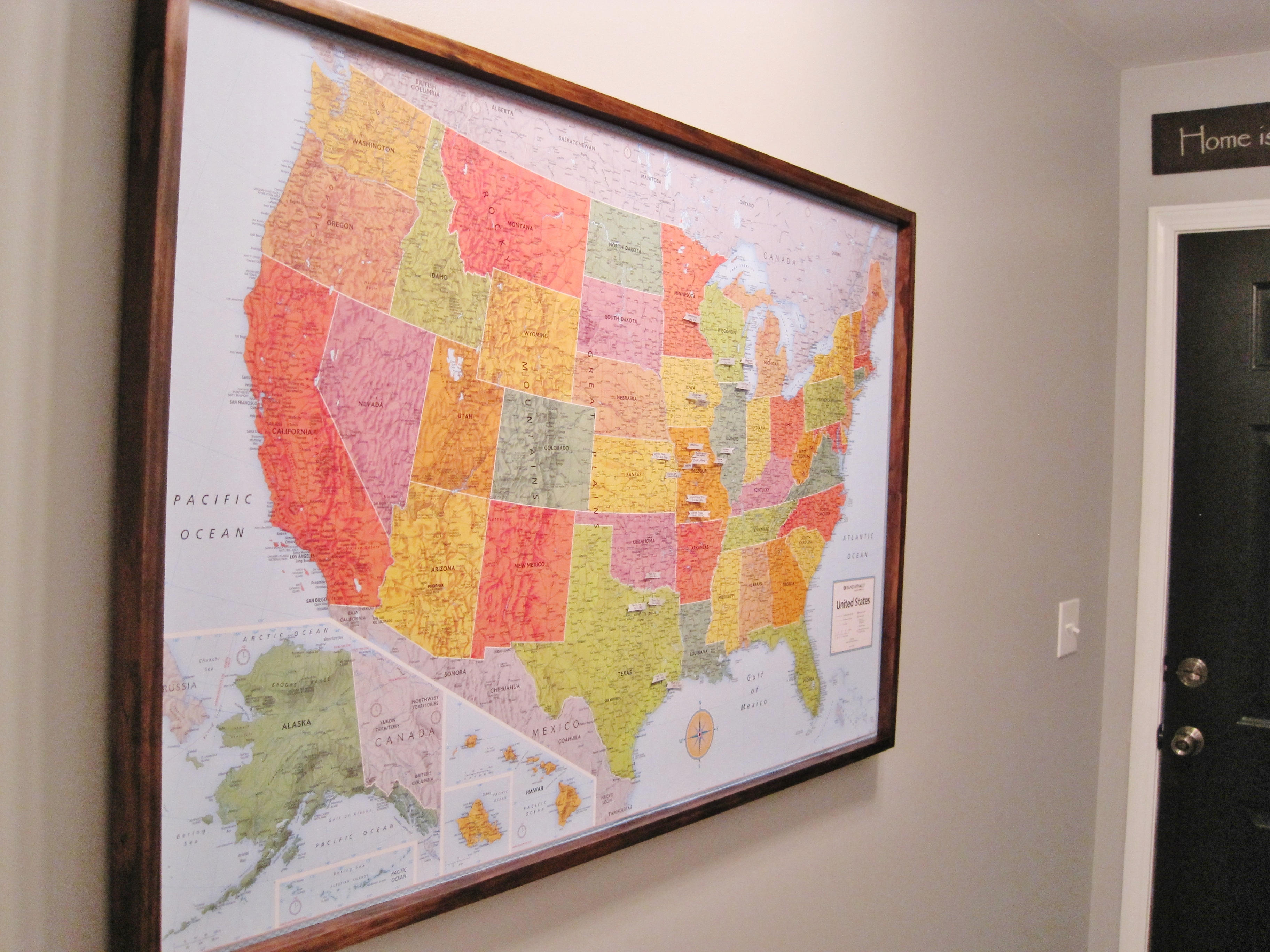 DIY Pinboard Travel Map Part 2 - Loving Here