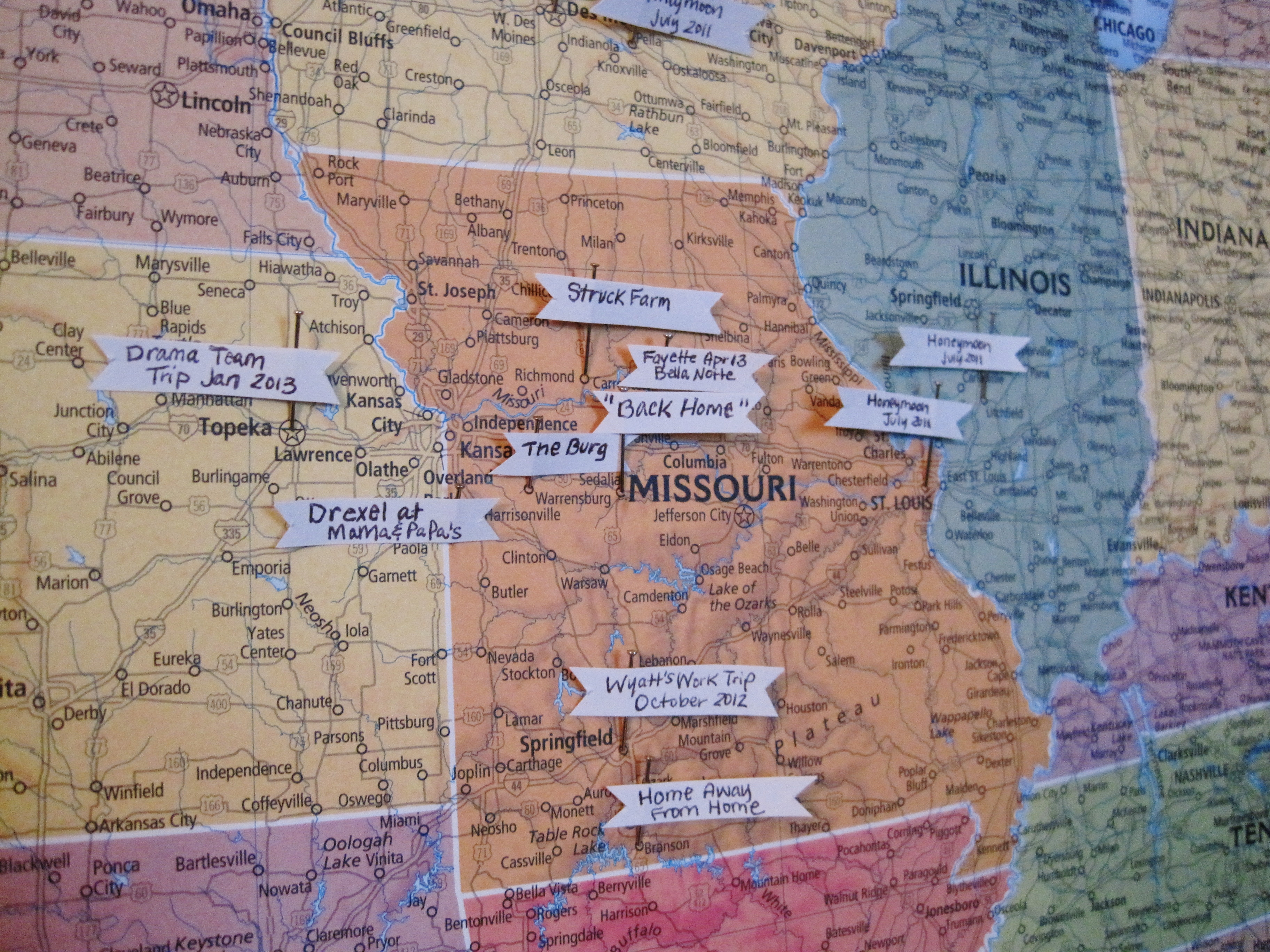 DIY Pinboard Travel Map Part 2 Loving Here – Travel Map Pins