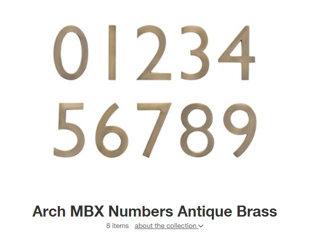 Target Brass House Numbers