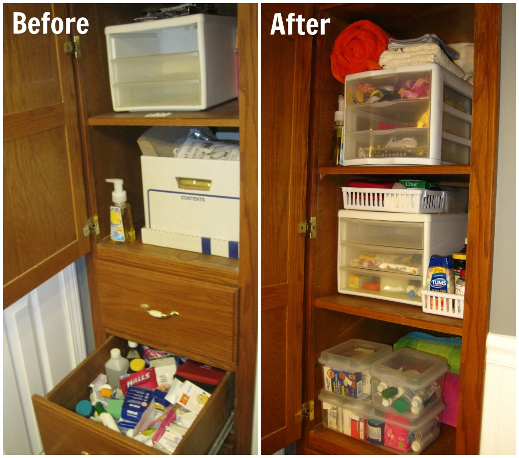 Bathroom Organization Before-After