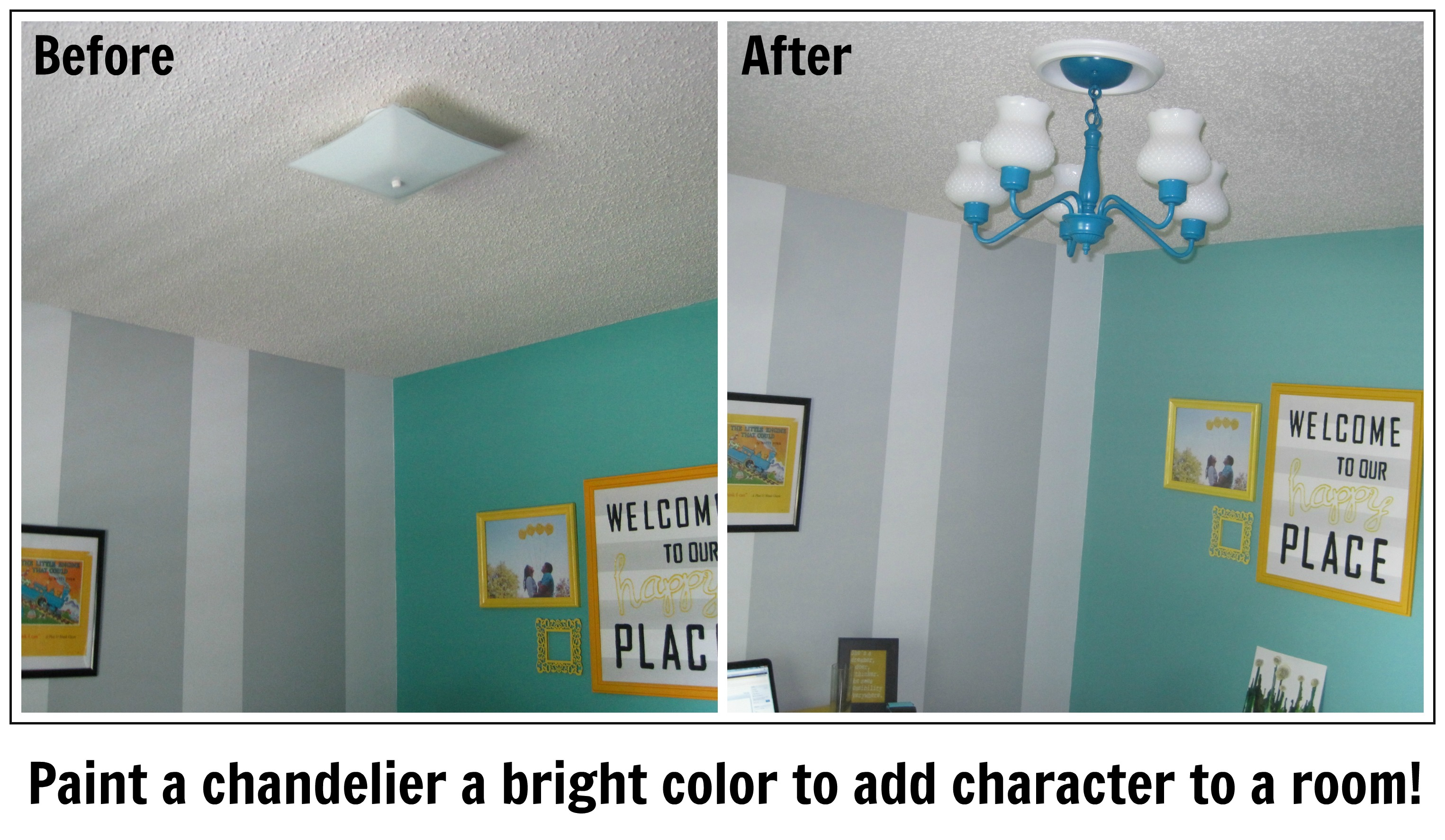Before and After Chandelier