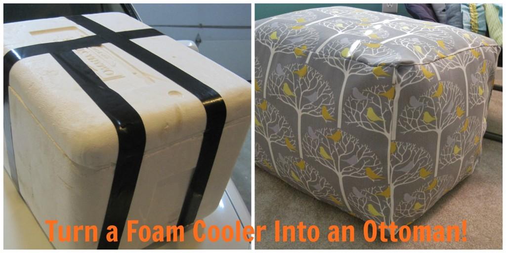 DIY Foam Cooler Ottoman