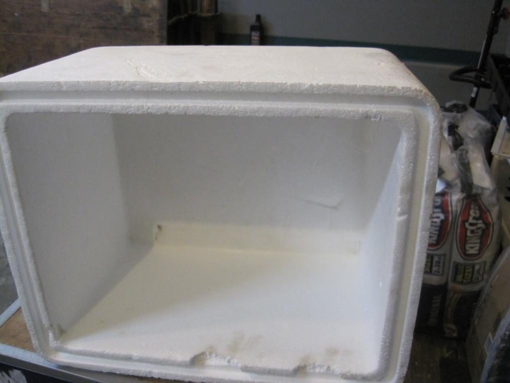 Foam Cooler Ottoman Before 2