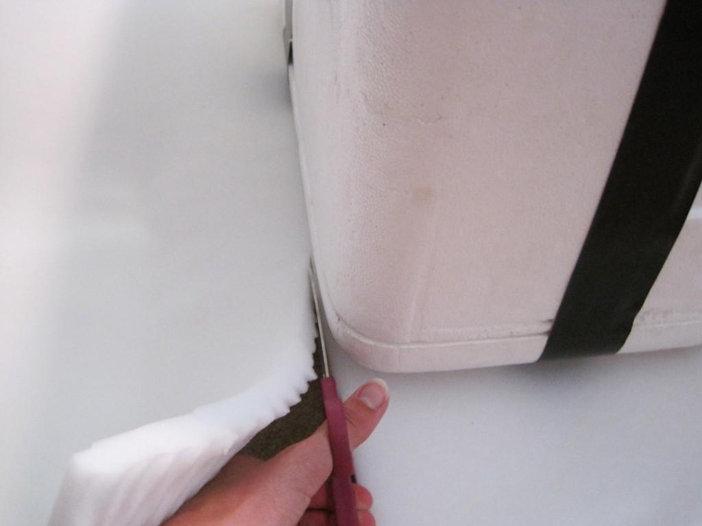 Foam Cooler Ottoman Cutting Foam