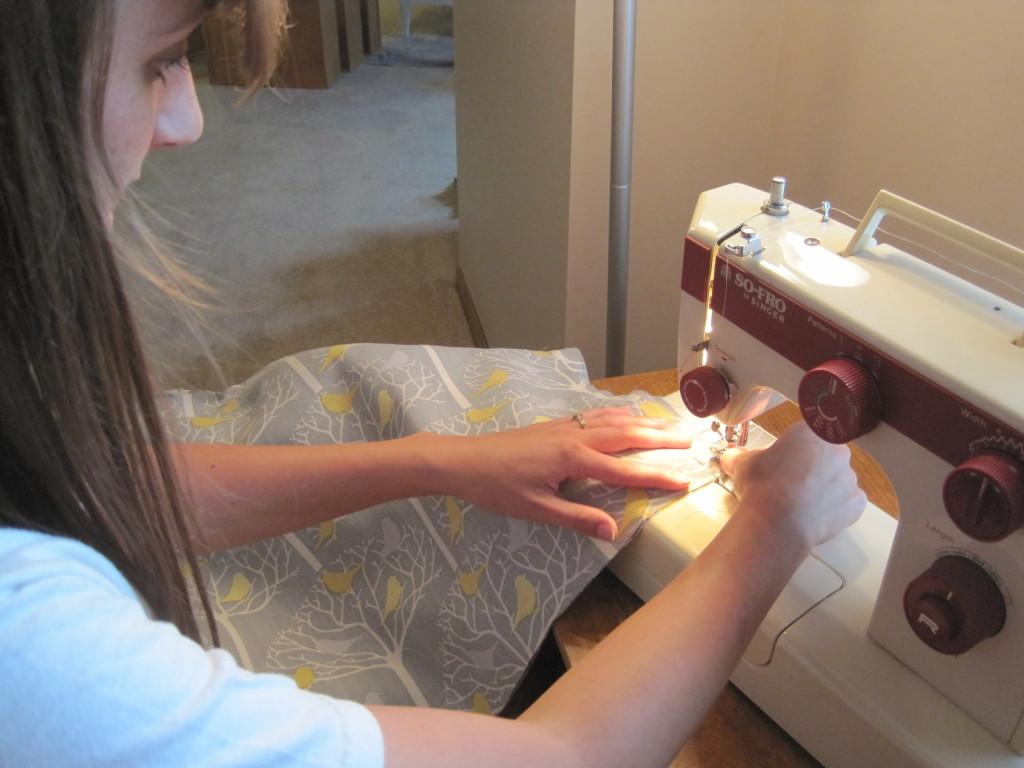 Foam Cooler Ottoman Sewing 2