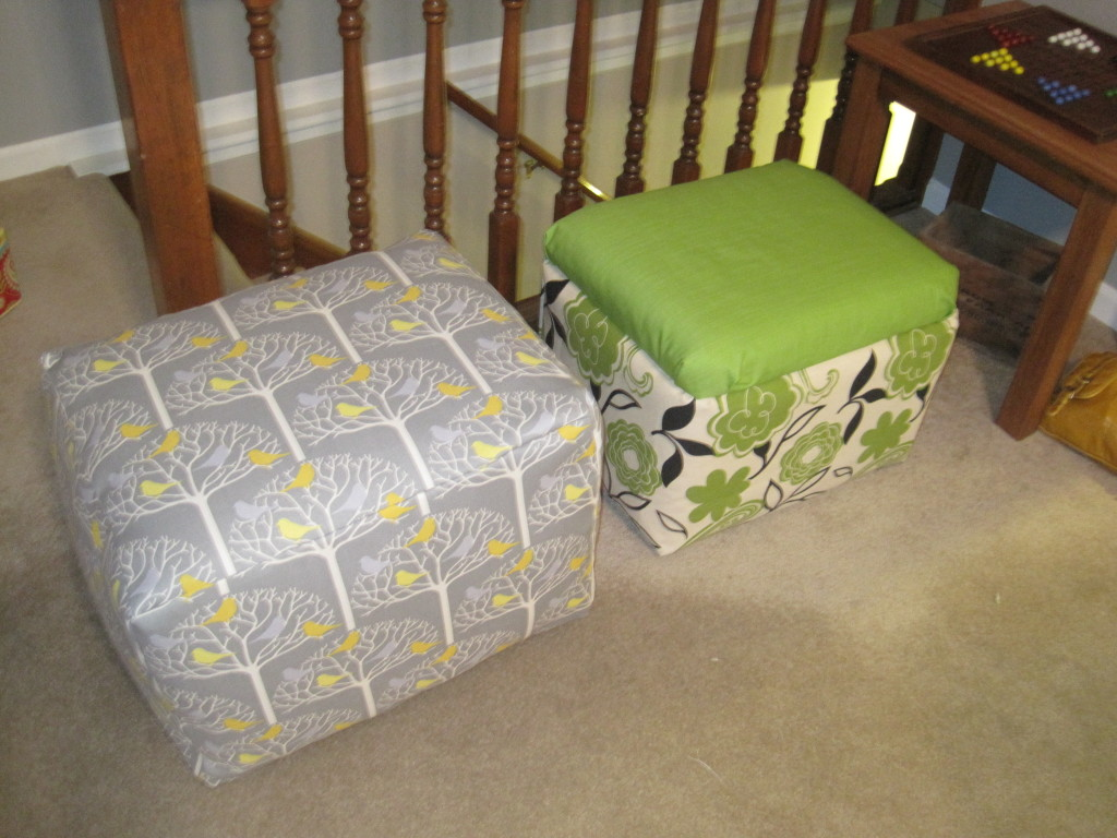 Foam Cooler Ottoman Sewing Finished Both