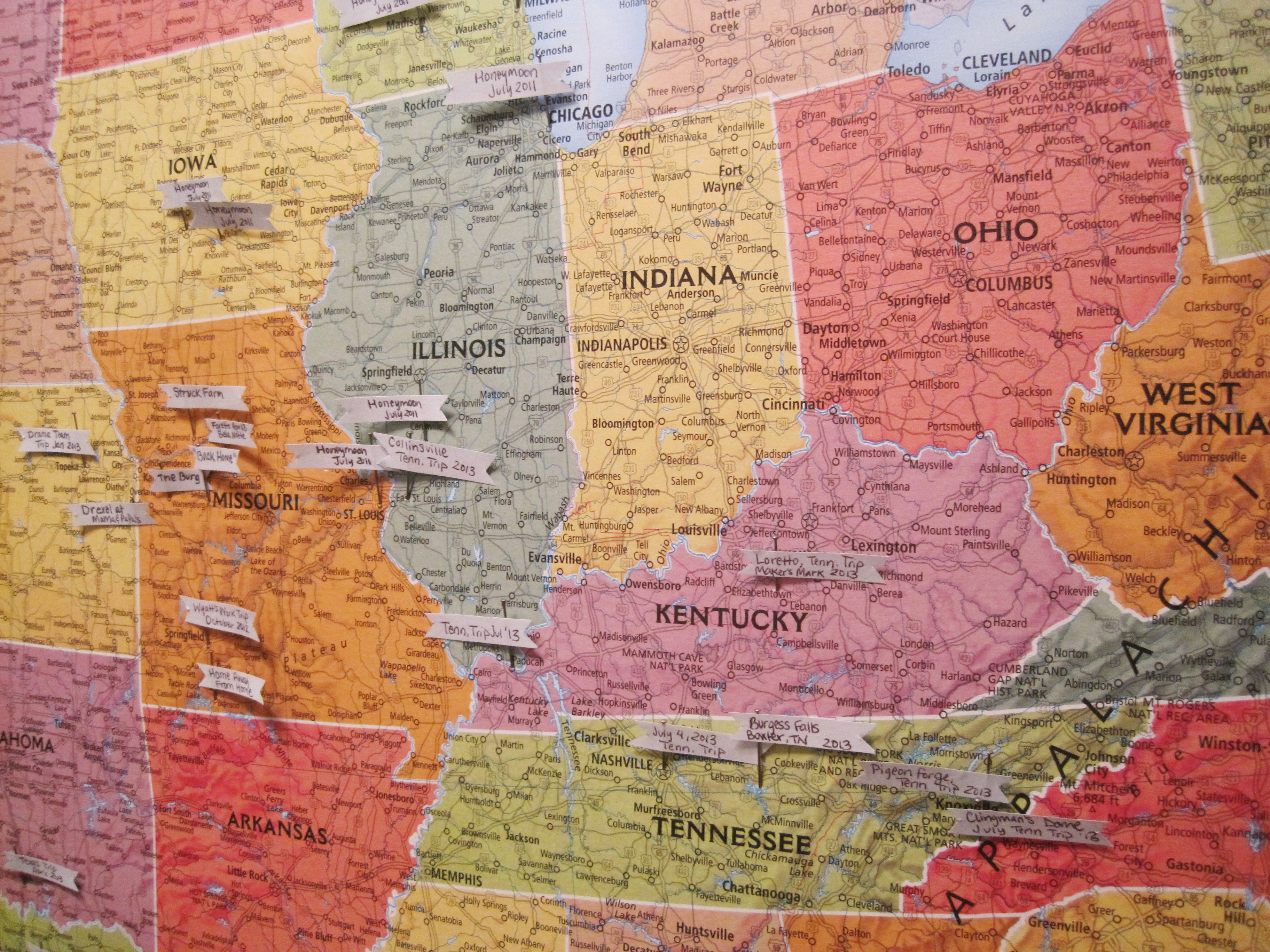 More MiddleOfTheCountry Map Pins Loving Here - Travel wall map with pins