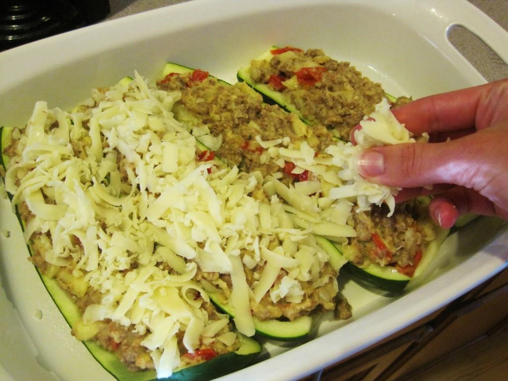 ground beef stuffed zucchini boats