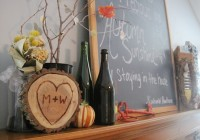 2013 Fall Mantle Decor 7