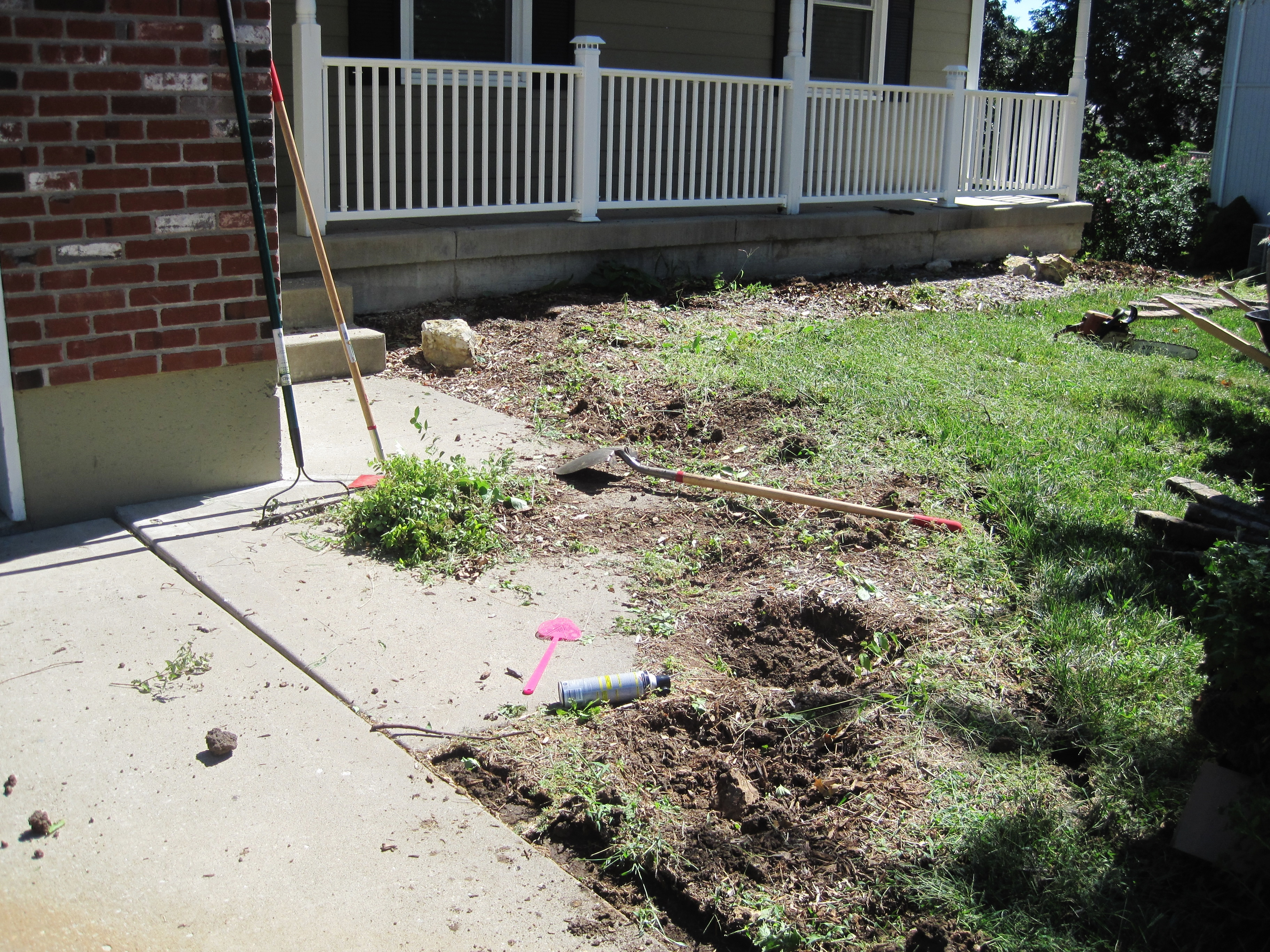 Demoing Front Yard Landscaping 8