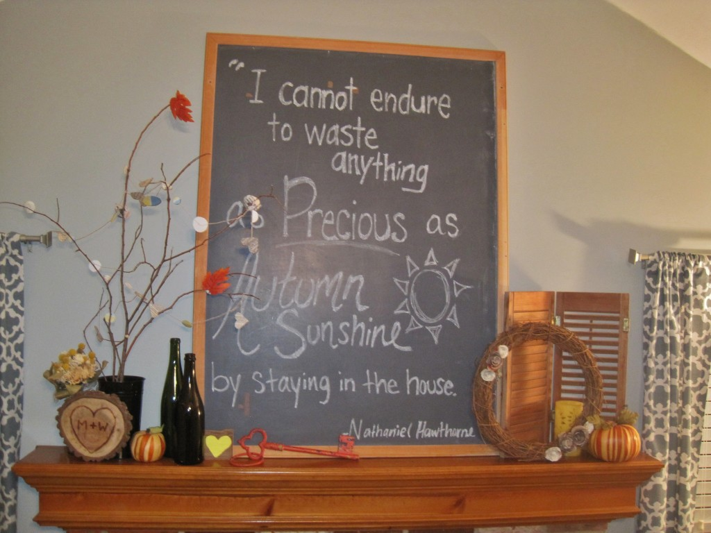 Fall Chalkboard Quote