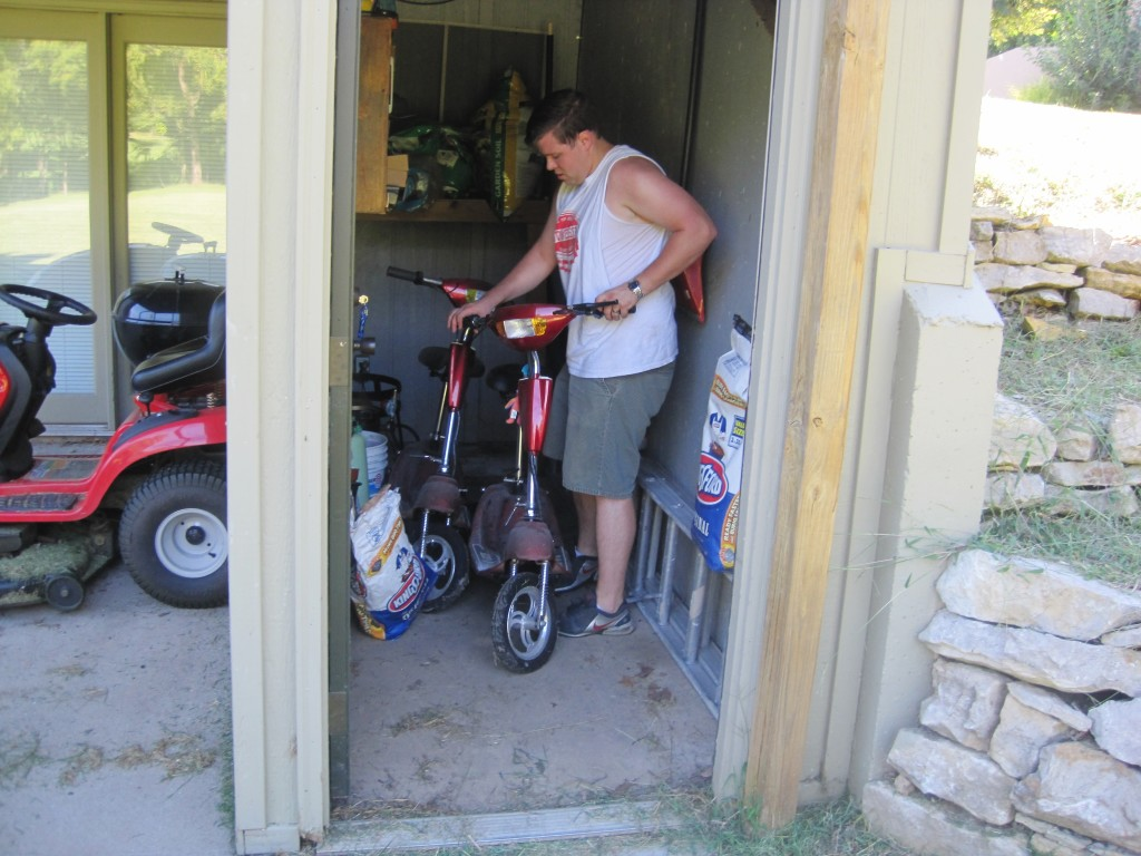Scooters in Shed