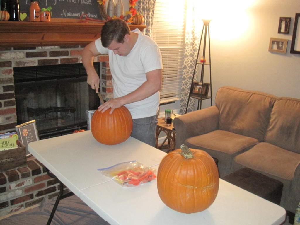 Carving Pumkins 2013