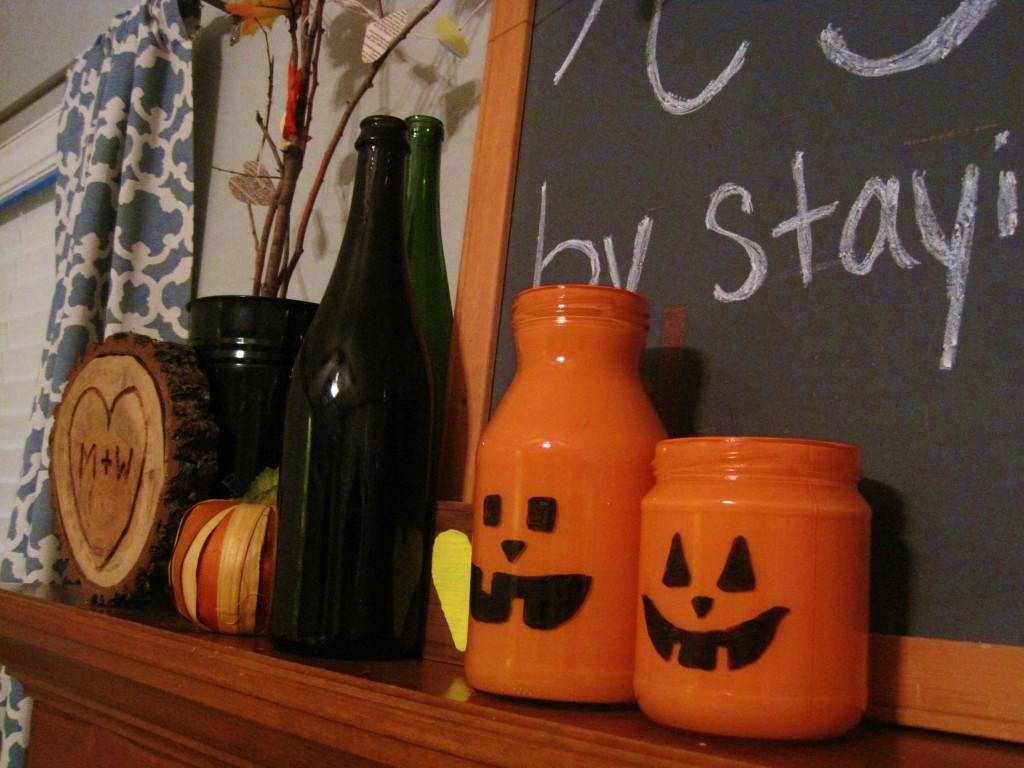 DIY Dry Erase Jack O Lantern Vases 4