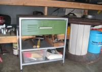 DIY Rolling Metal Garage Cart 11