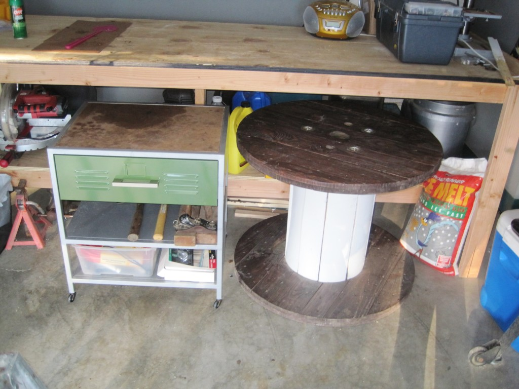 DIY Rolling Metal Garage Cart 9