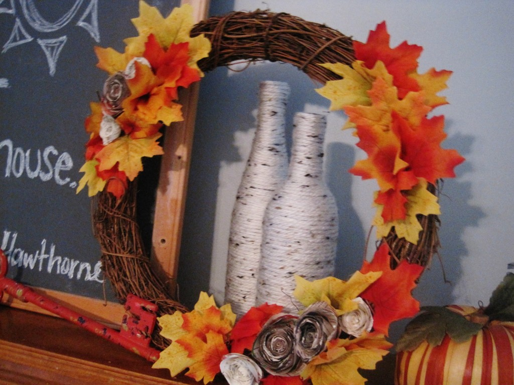 Easy DIY Fall Wreath with Leaves 2