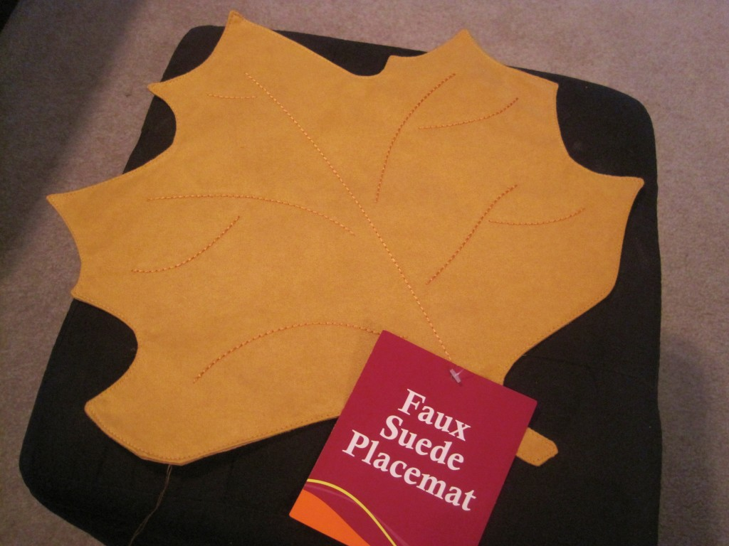 Easy Fall Pillow for Placemat