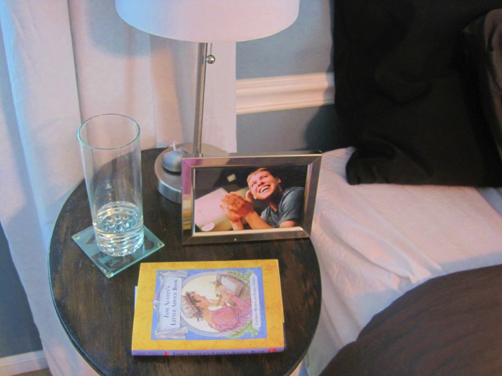 Jane Austen Book on Nightstand