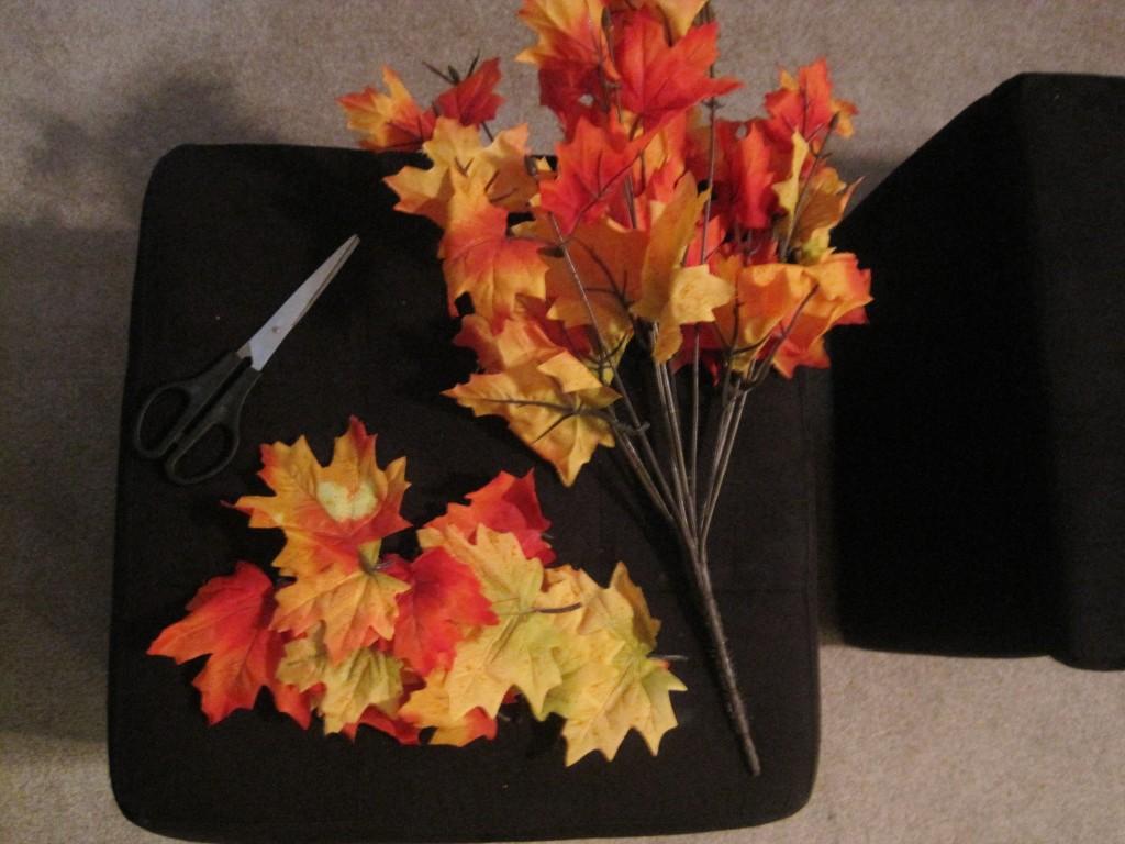 Making a Fall Leaf Wreath