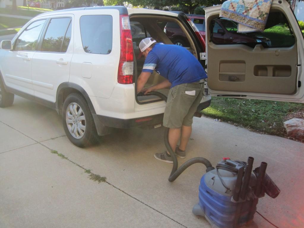 Vacuuming CRV