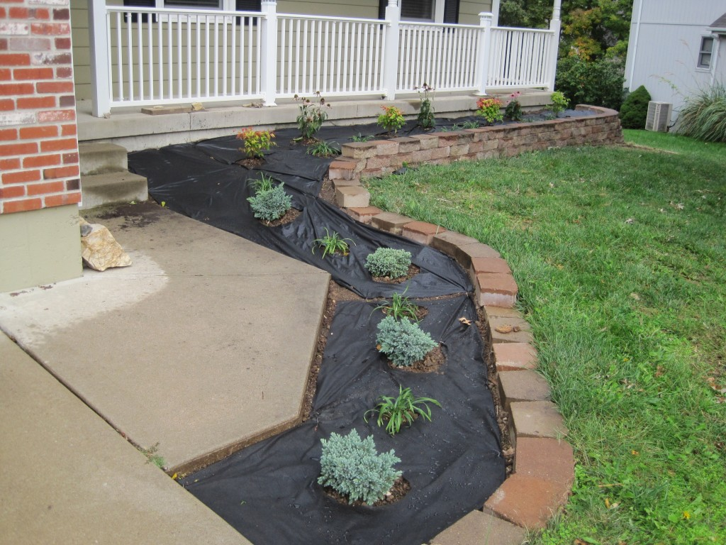 Weed Barrier on Front Bed