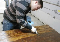 Refinishing Wood Table Top 2