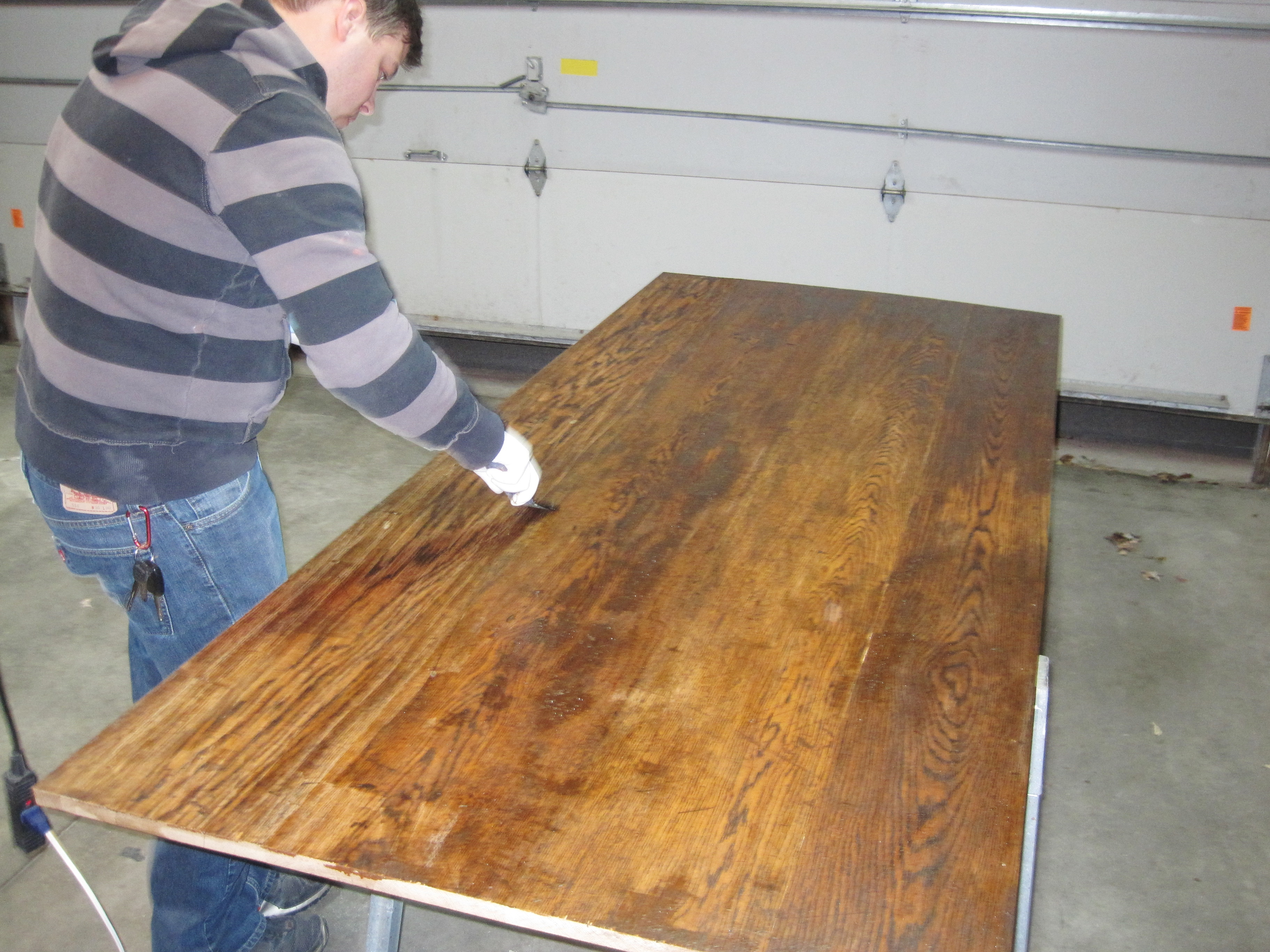 refinishing wood table top 3 table top progress surface solutions and stripping loving here - How To Refinish Wood Table