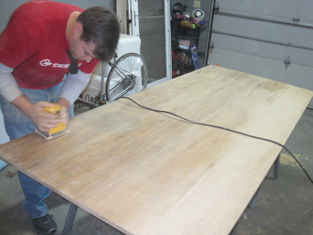 Sanding the Table