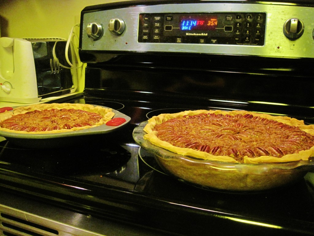 Two pecan pies