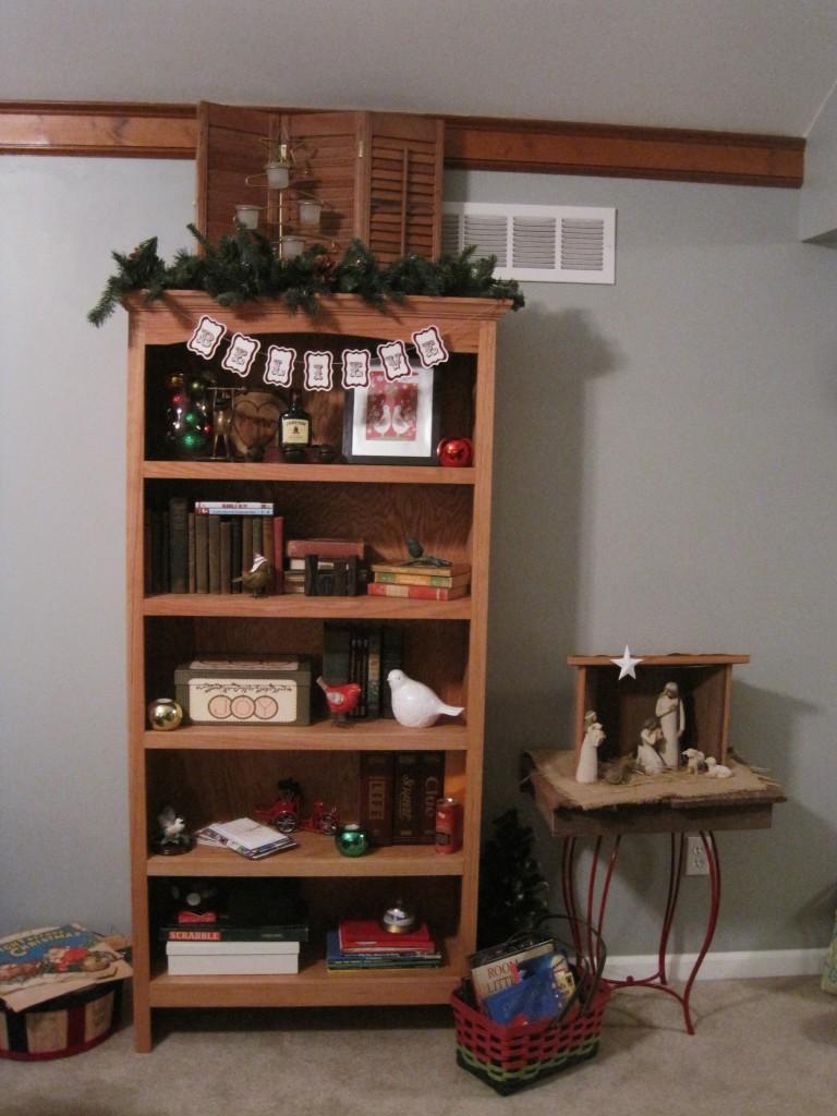 Christmas Bookshelves