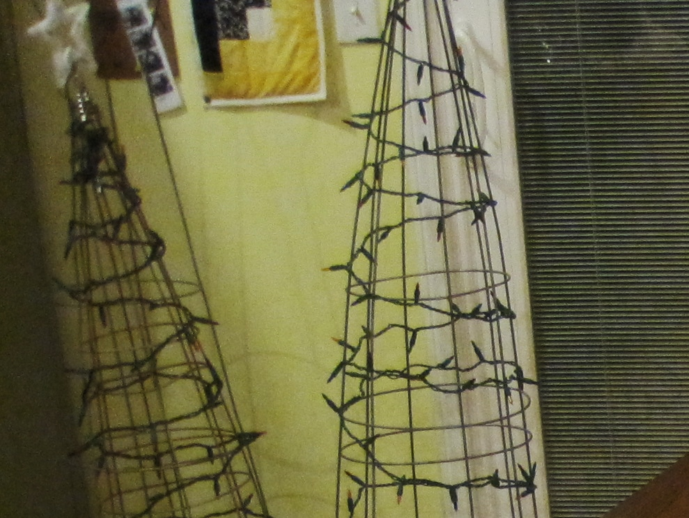 Close Up of Tomato Cage Tree