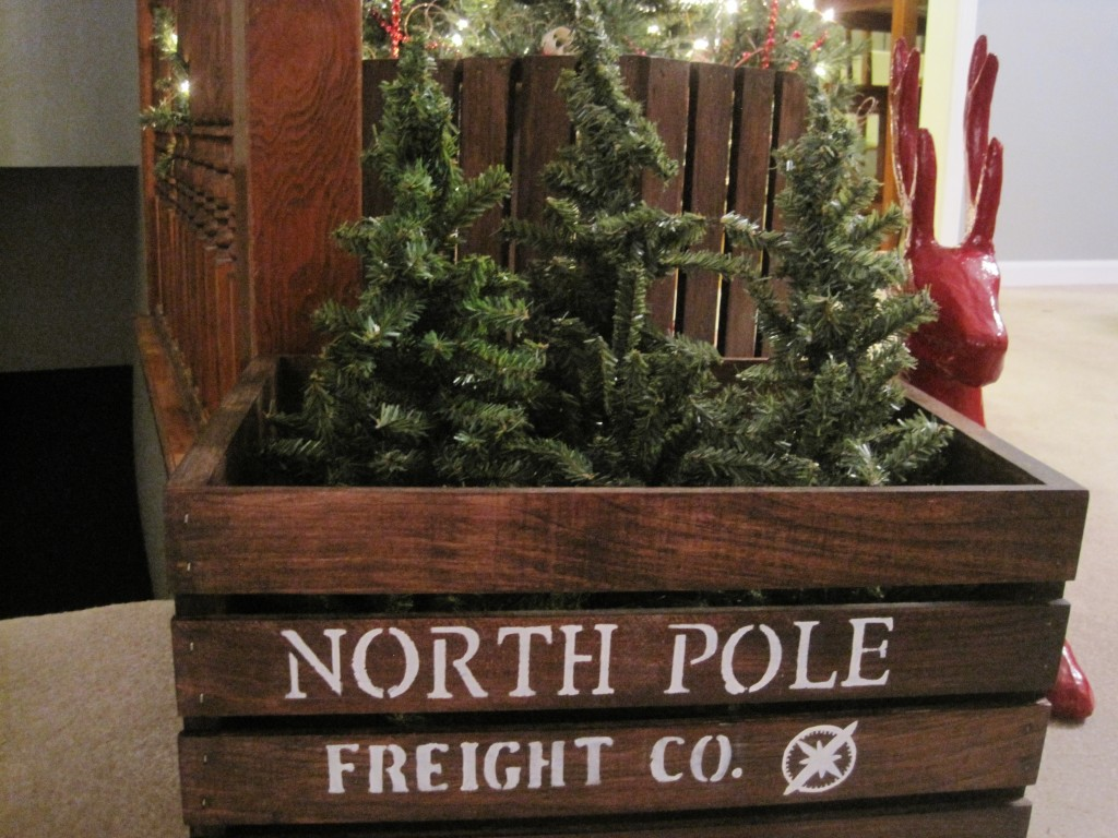 DIY North Pole Shipping Crate