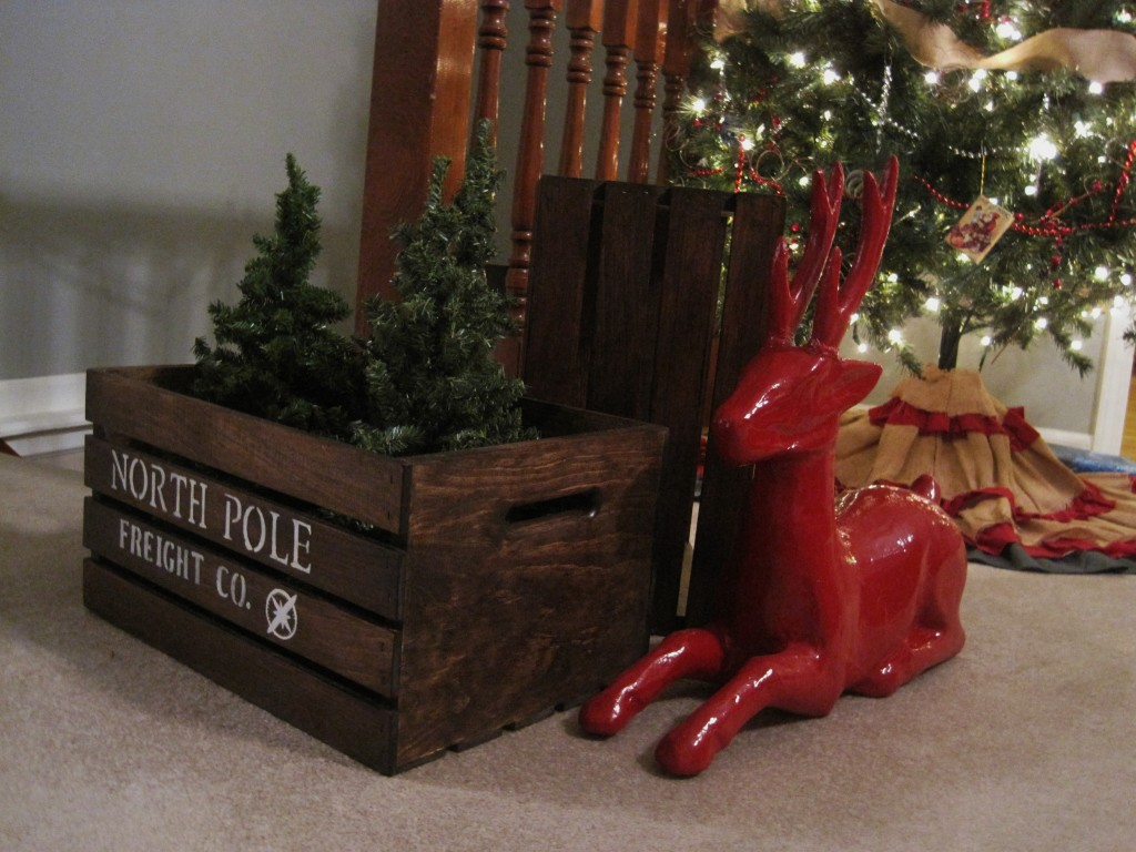 DIY North Pole Shipping Crate 2