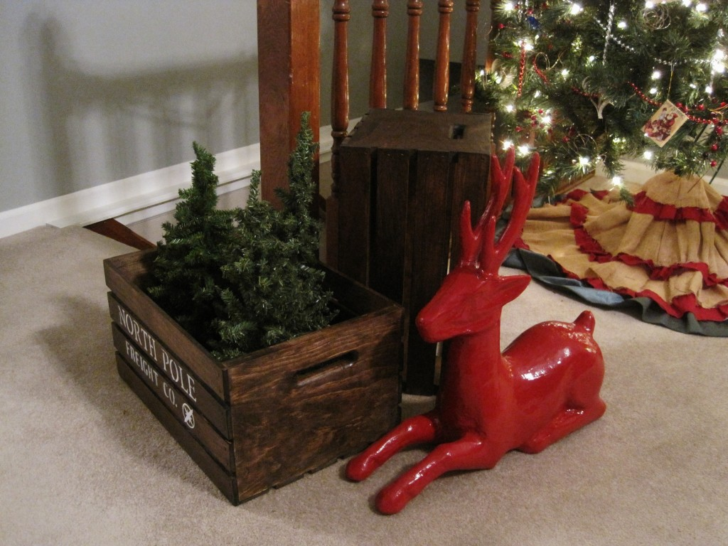 DIY North Pole Shipping Crate 3