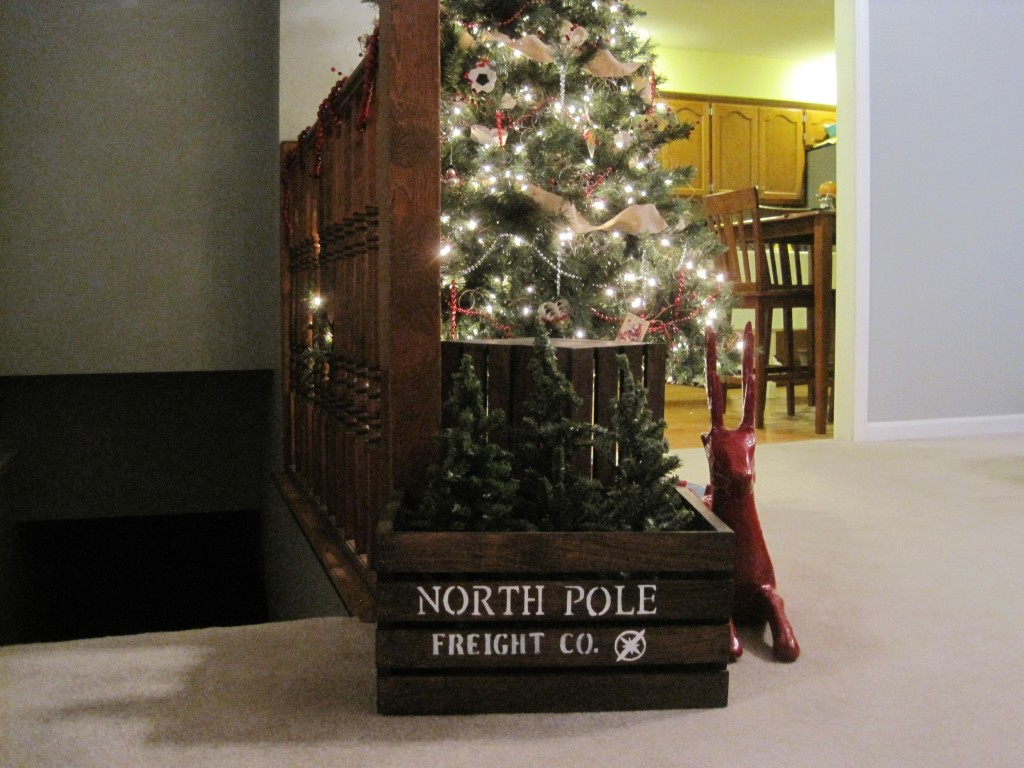 DIY North Pole Shipping Crate 4