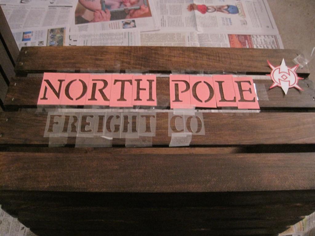 DIY North Pole Shipping Crate Stencil