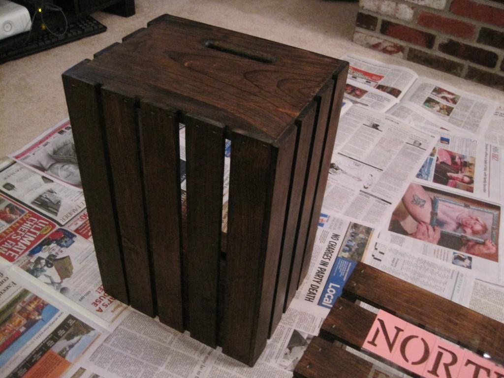 DIY North Pole Shipping Crate Stencil 2