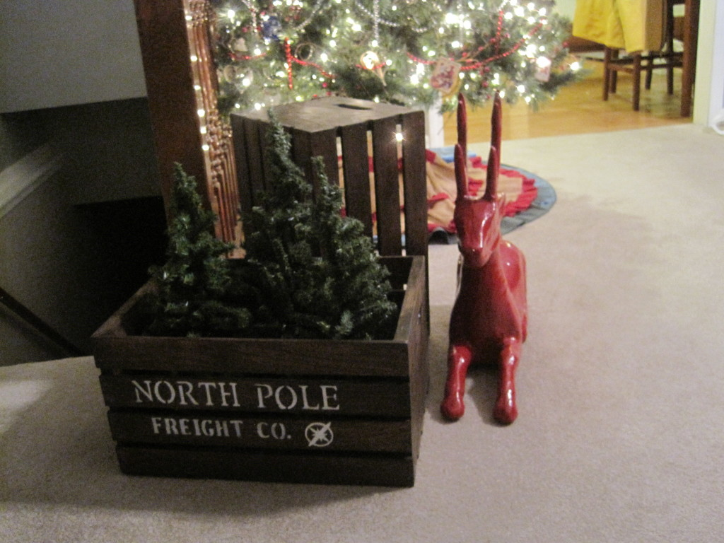 DIY North Pole Shipping Crate and Reindeer