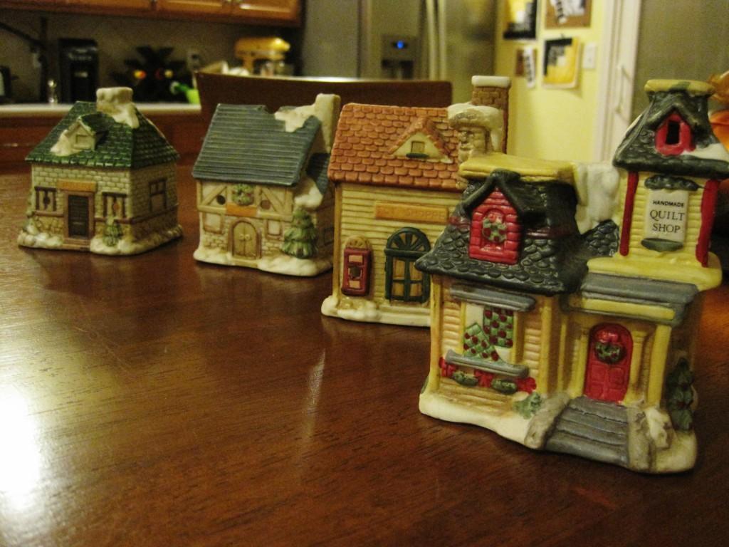 DIY Painting Ceramic Houses