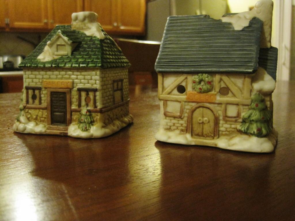 diy painting ceramic houses 3 - Ceramic Christmas Houses