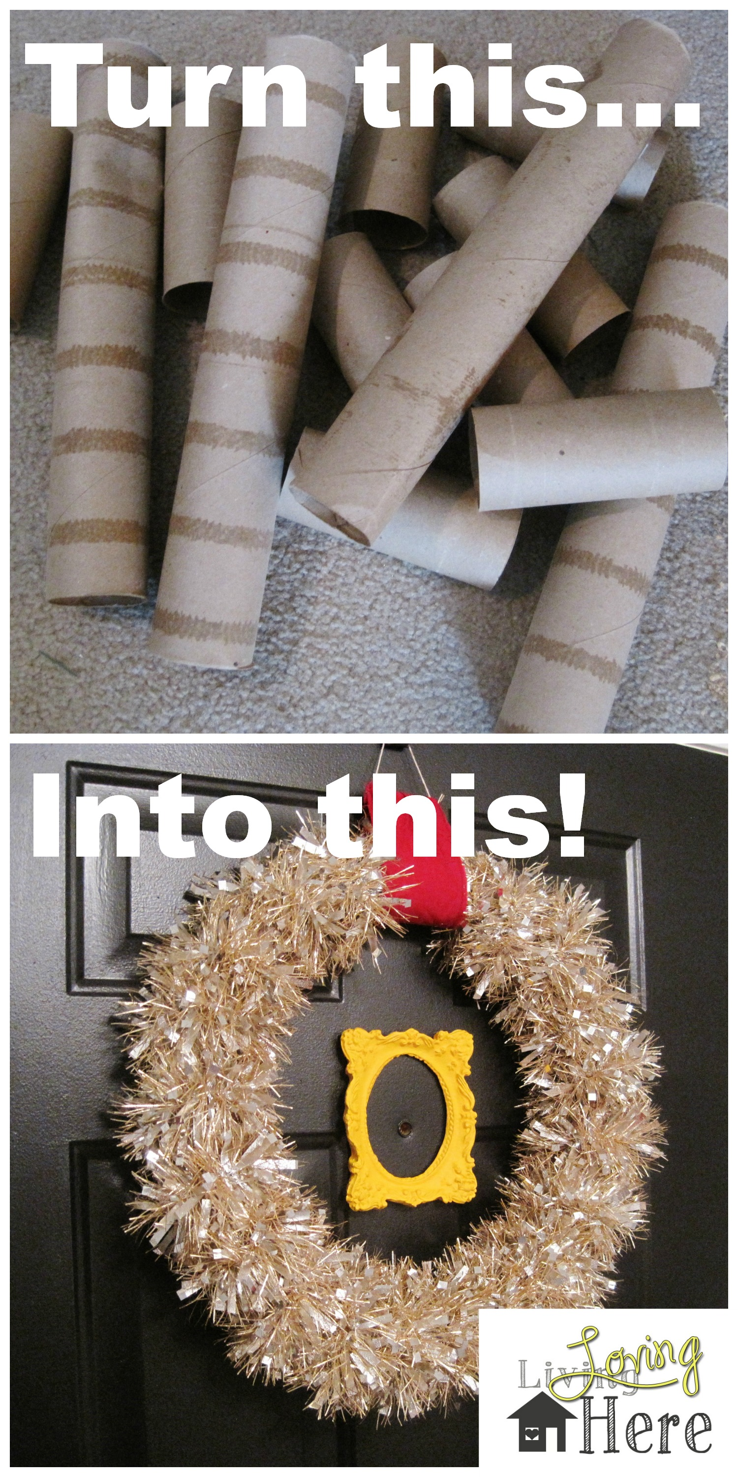 Diy Toilet Paper Tubes To Wreath Transformation Loving Here